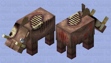 Bogorkstynesaryood, a very nasty boar. Minecraft Mob Skin