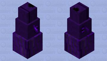 Ender doggo(The model needs to be shifted so you can see it, pictures bellow) Minecraft Mob Skin