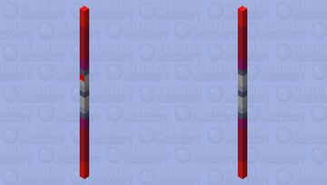 Double Bladed Red Lightsaber Minecraft Mob Skin