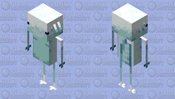 Cold Axolotlin Minecraft Mob Skin