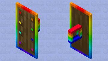 Rainbow Sheild Minecraft Mob Skin
