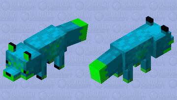 blue nether fox Minecraft Mob Skin