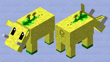 Moobloom's friend  coming to beat up glow squid! Minecraft Mob Skin