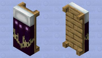The End, but on a bed. Minecraft Mob Skin