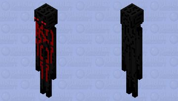 Wounded enderman Minecraft Mob Skin