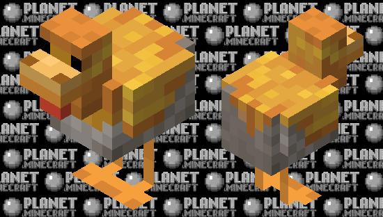 gold crested chicken (minecraft earth) Minecraft Skin
