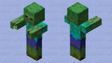 moss zombie(for Dungeons Jungle awakens) Minecraft Mob Skin