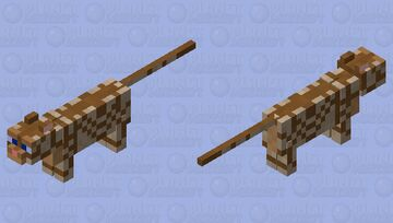 Strapped Simian Cat Minecraft Mob Skin