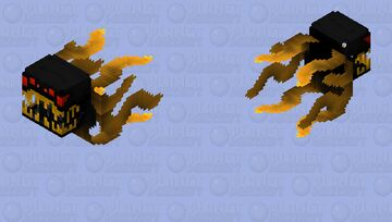 """Hungry Flying Tentacle Beast (An Extra Nighttime Jumpscare) -- """"Dark Series"""" Collection Minecraft Mob Skin"""