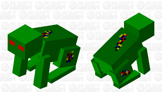 Evil Robot Frog Minecraft Skin