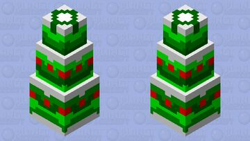 Christmas tree cake (check description) Minecraft Mob Skin