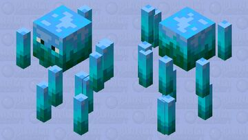 Blue Fire Blaze Minecraft Mob Skin