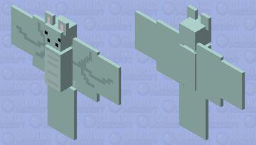 Kawaii Simple Dragon Bat Minecraft Mob Skin