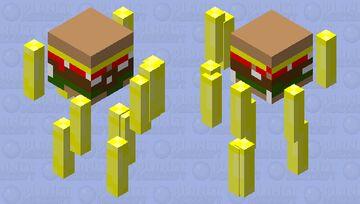 🍔 hamburger with 🍟 fries Minecraft Mob Skin