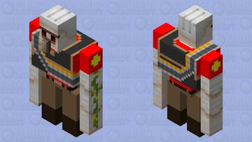 TF2 RED Heavy Weapons Golem Minecraft Mob Skin