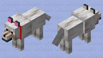 Better tamed wolf: Minecraft Mob Skin