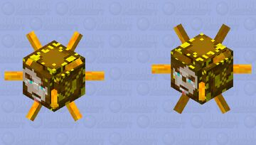 Sun God head (Elder Guardian) Minecraft Mob Skin