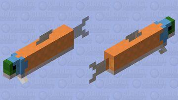 Orange salmon (varient 2) Minecraft Mob Skin