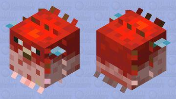 Red pufferfish Minecraft Mob Skin
