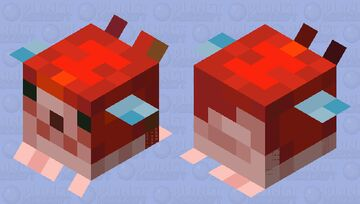 Medium red pufferfish Minecraft Mob Skin