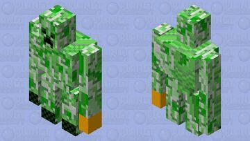 buff creeper with thanos gauntlet no stones Minecraft Mob Skin