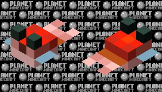 Tiny red pufferfish Minecraft Skin