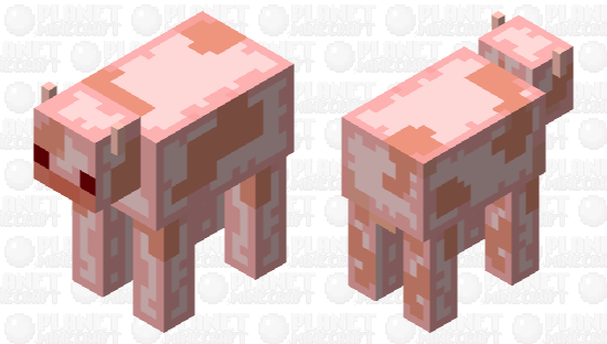 strawberry cow 2 Minecraft Skin