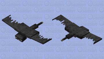 Black Phantom Minecraft Mob Skin