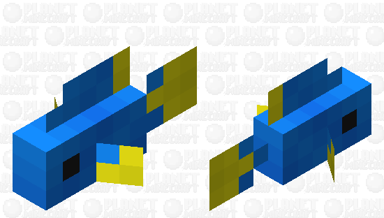 Small Blue Tropical Fish Minecraft Skin