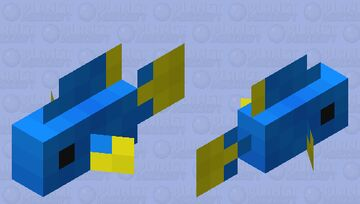 Small Blue Tropical Fish Minecraft Mob Skin