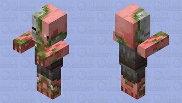 Zombie Pigman Villager Minecraft Mob Skin