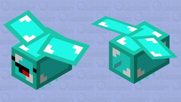 Cute Diamond Bee Minecraft Mob Skin