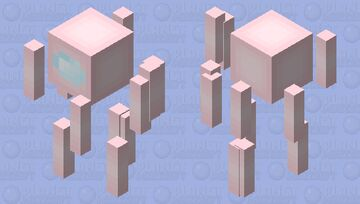 Soft Pastel Pink - Among Us Blaze Minecraft Mob Skin
