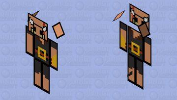 Paper Piglin Brute Minecraft Mob Skin