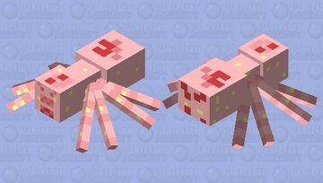 Strawberry spider Minecraft Mob Skin