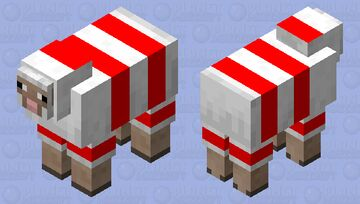 Candycane sheep Minecraft Mob Skin