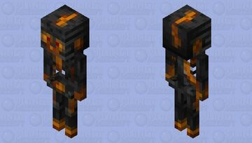 Melting Wither Skeleton Minecraft Mob Skin