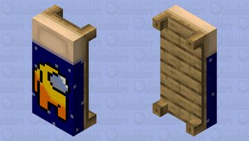 Among Us Yellow Player Bed Minecraft Mob Skin