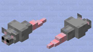 OH CRAP! A RAT! Minecraft Mob Skin