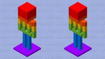 Rainbow Armor Stand Minecraft Mob Skin