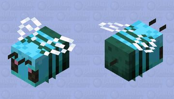 Blue Bee Minecraft Mob Skin