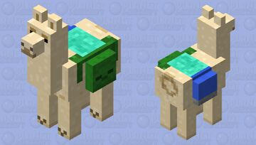 Llama carrying a zombie Minecraft Mob Skin