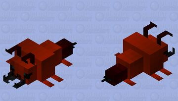 Red fire ant Minecraft Mob Skin