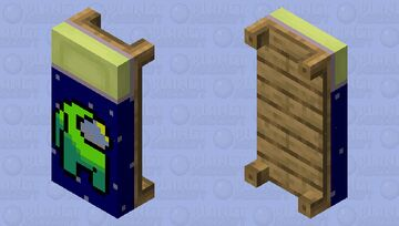 Among Us Lime Player Bed Minecraft Mob Skin