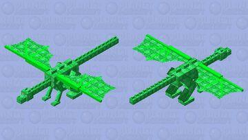 Emerald Dragon Minecraft Mob Skin