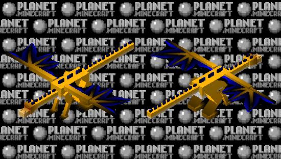 Golden Dragon Minecraft Skin