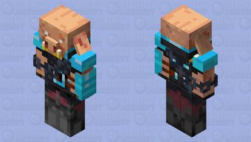 Diamond piglin Minecraft Mob Skin