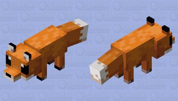 Cute Fox Minecraft Mob Skin