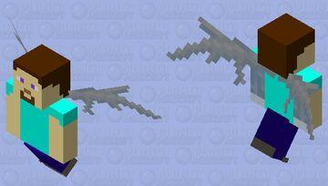 Steve angle Minecraft Mob Skin