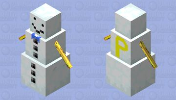 Snow golem w/bow tie &painted arms Minecraft Mob Skin